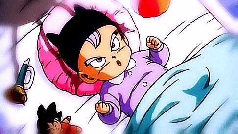 Trunks has a little Goku doll - Visit now for 3D Dragon Ball Z shirts now on sale!