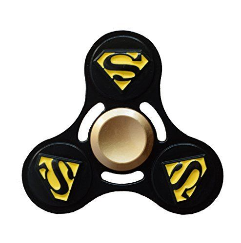 Zip Spinners  Fidget Spinner Superman Toy with Ultra Speed Deep Groove Bearings  Autism Toys Best Boredom Reducer Stress Toy Hand Spinner Fidget Toy for Kids & Adults (Black Superman). #Spinners #Fidget #Spinner #Superman #with #Ultra #Speed #Deep #Groove #Bearings #Autism #Toys #Best #Boredom #Reducer #Stress #Hand #Kids #Adults #(Black #Superman)