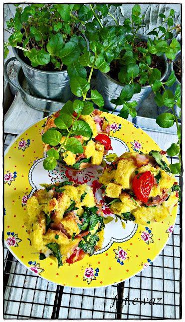 Ewa w kuchni: Śniadaniowe babeczki z chleba tostowego