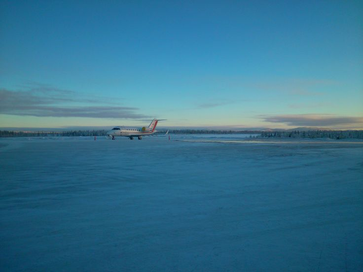 Airport is surprisingly beautiful in the snow; we landed on an ice/snow-coated runway