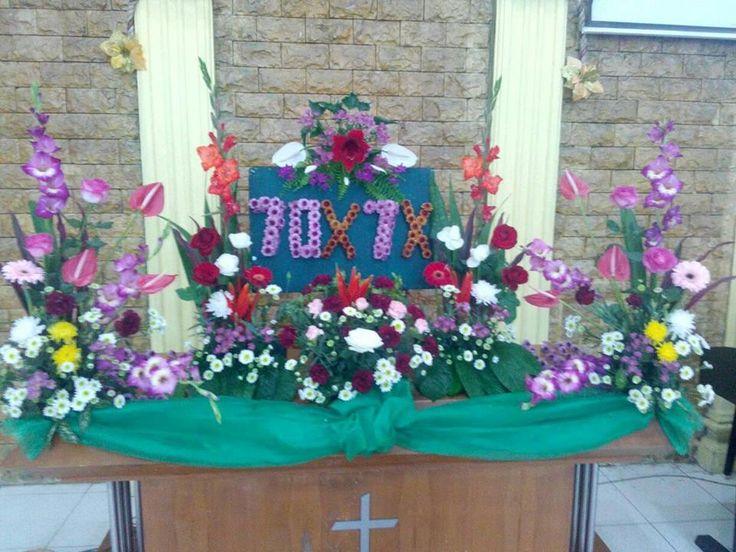Rangkaian bunga yang menggambarkan firman Tuhan: ARTI DAN PESAN RANGKAIAN BUNGA ALTAR PADAMINGGU XI...