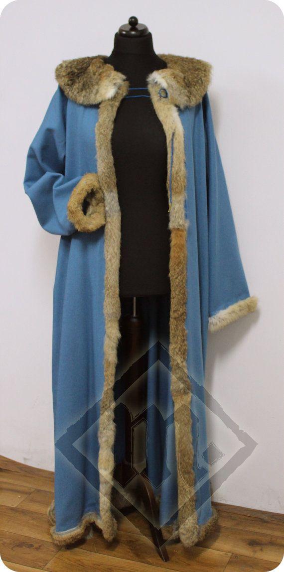 Late 15th century German light blue Schaube with by LadyMalinaCom