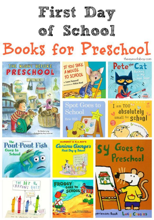 First Day of School Books for Preschool - great list of books for toddlers and kids heading back to school this Fall
