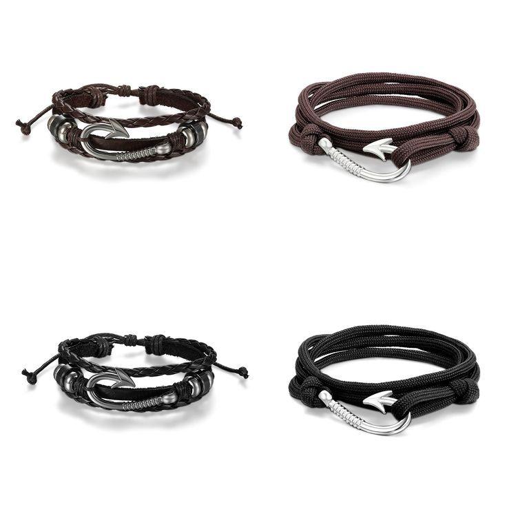 The toy tester has the Cupimatch 4PCS Men's Leather Bracelet Set, Braided …..   – Bracelet mens