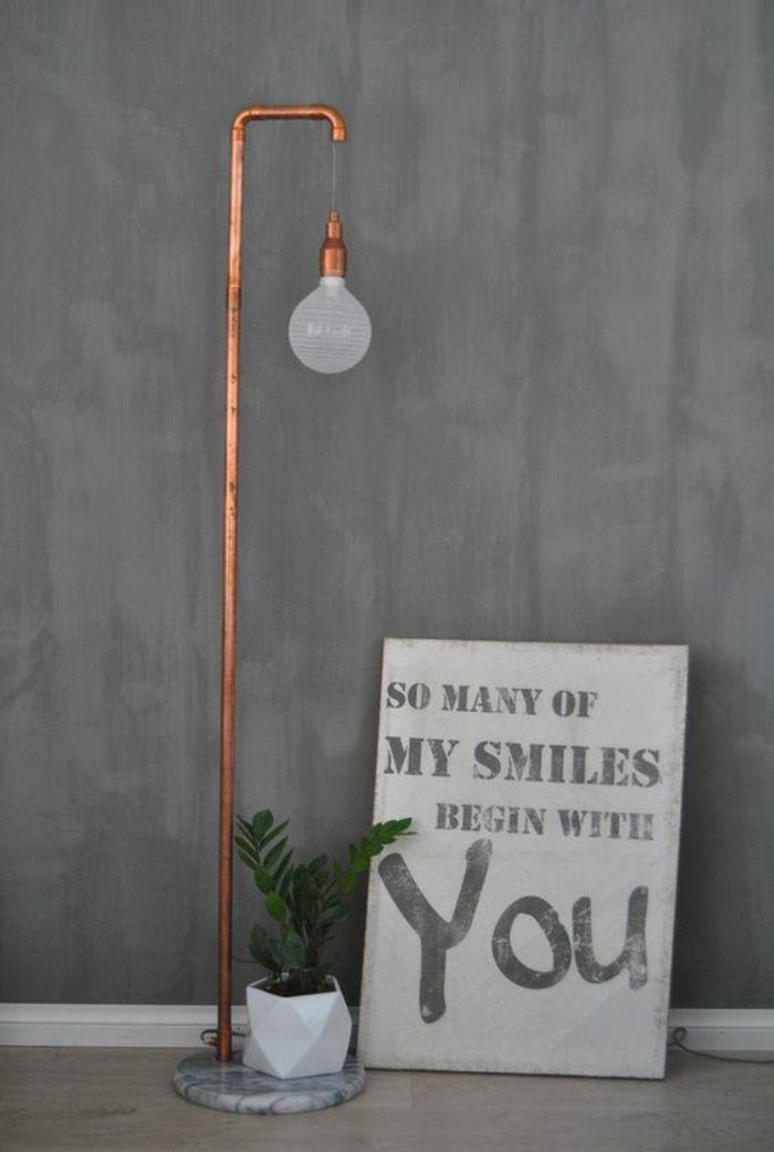 DIY Lampen Stehlampe aus Messing-Röhren
