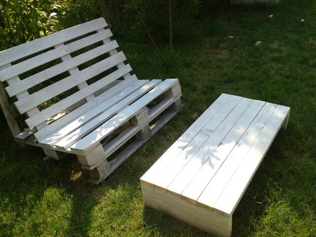 Pallet bench and low table