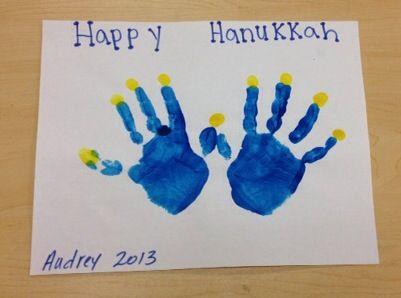 Handprint menorah happyhanukkah palmcoast preschool for Menorah arts and crafts