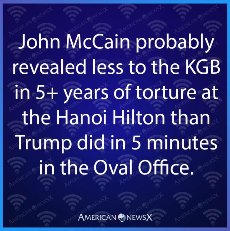 """Don't get all weepy over McCain...his fellow prisoners at the Hanoi Hilton called him """"Songbird"""""""