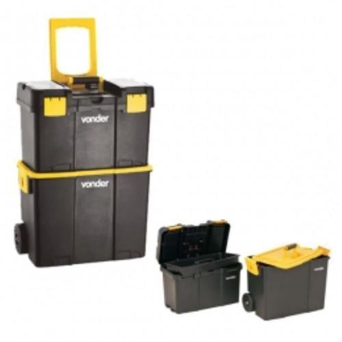 Caixa Plástica Organizadora Porta Ferramentas Vonder C/ Roda CRV 0300