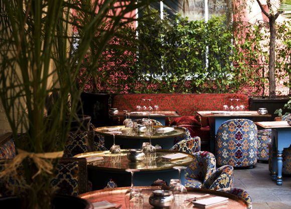 Momo's terrace.  Looks beautiful and menu looks great for some small plates and drinks