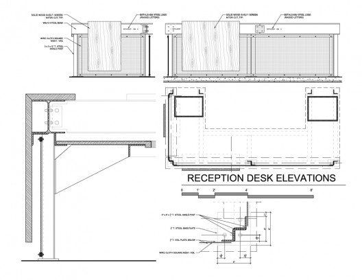 Reception Desk Construction Drawings Details In 2019