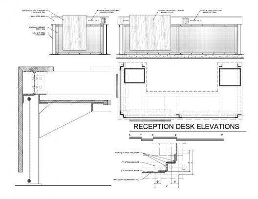 Reception Desk Construction Drawings Details Pinterest