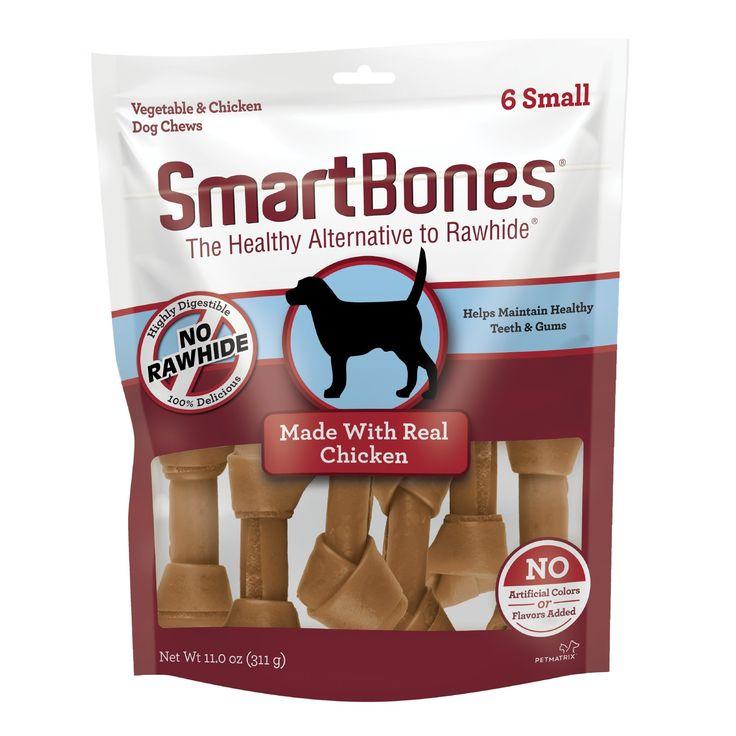 SmartBones Small Bones Vegetable & Chicken NoRawhide Dog
