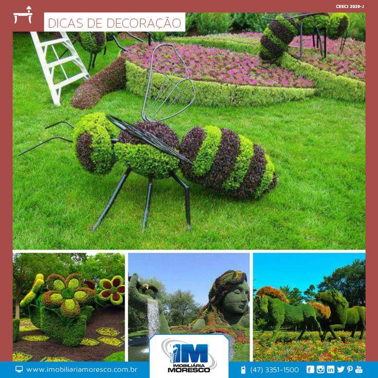 Arte para o jardim com muita criatividade!