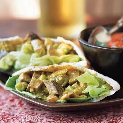 Curried #Duck Pita w/ Lettuce & Mango #Chutney