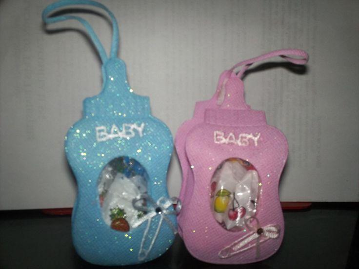 Como hacer recuerdos de biberones para Baby Shower