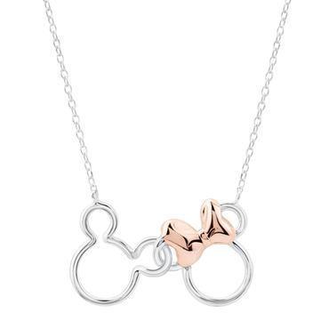Zweifarbige Disney Mickey- und Minnie Mouse-Halskette – Artikel 19578624 | REEDS…