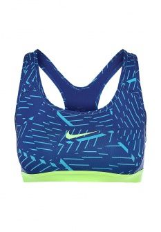 Топ спортивный Nike, цвет: синий. Артикул: NI464EWDRT49. Женская одежда