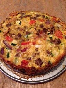 Hartige taart (paleo) (zonder deeg)