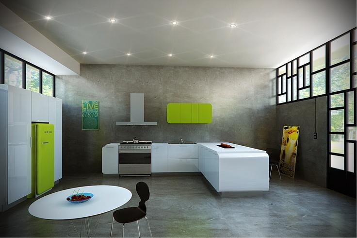 15 best images about cocinas con smeg on pinterest ovens for Smeg kitchen designs