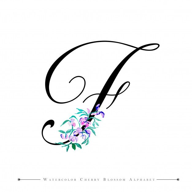 23 Letra f para tatuaje