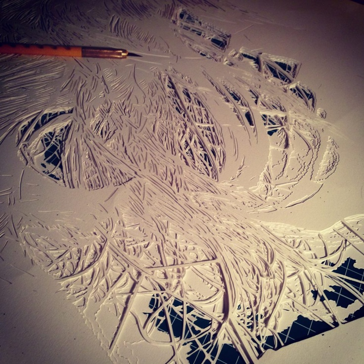 """6 layers of hand cut stencil for the artwork """"we could forever"""" by sink - click trough to see the finished work"""