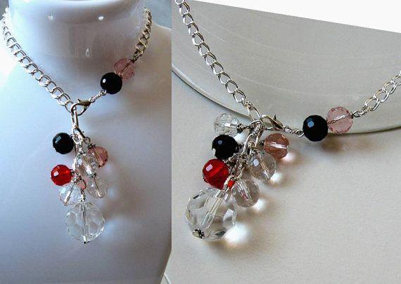 Art Deco Chain Necklace Lariat Style Statement Y by SunEnerChic