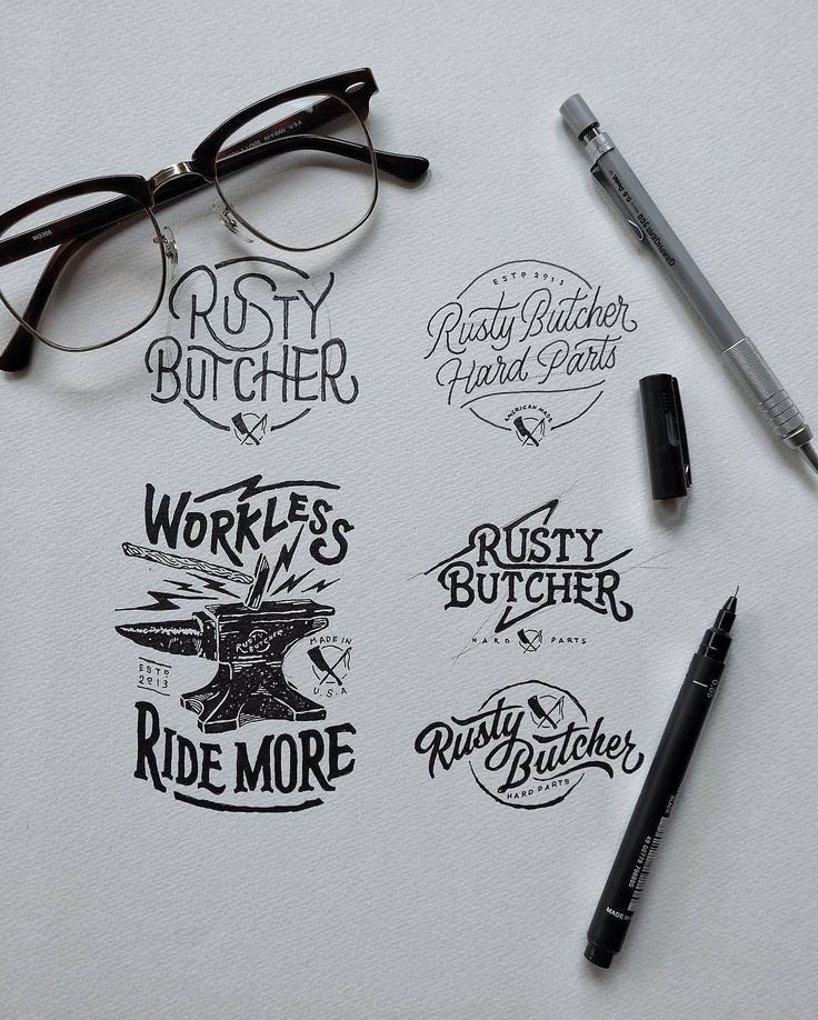 Awesome logo process sketches. Type by @khairulitie | #typegang - typegang.com