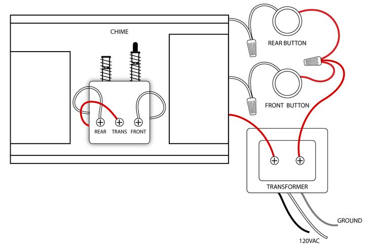 Doorbell Wiring Diagrams | door chimes Wiring door bells