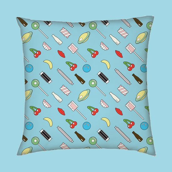 Image of Retro Sweet Cushions (Pair)