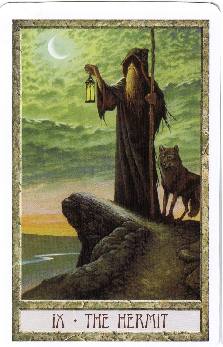 The Hermit from the Druid Craft Tarot