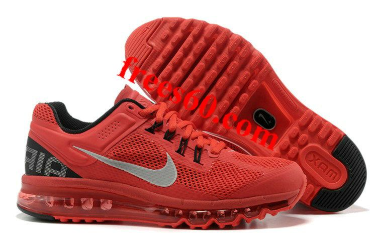 frees60.com for half off nike shoes $64.95 , Mens Nike Air Max 2013 Red Black Shoes