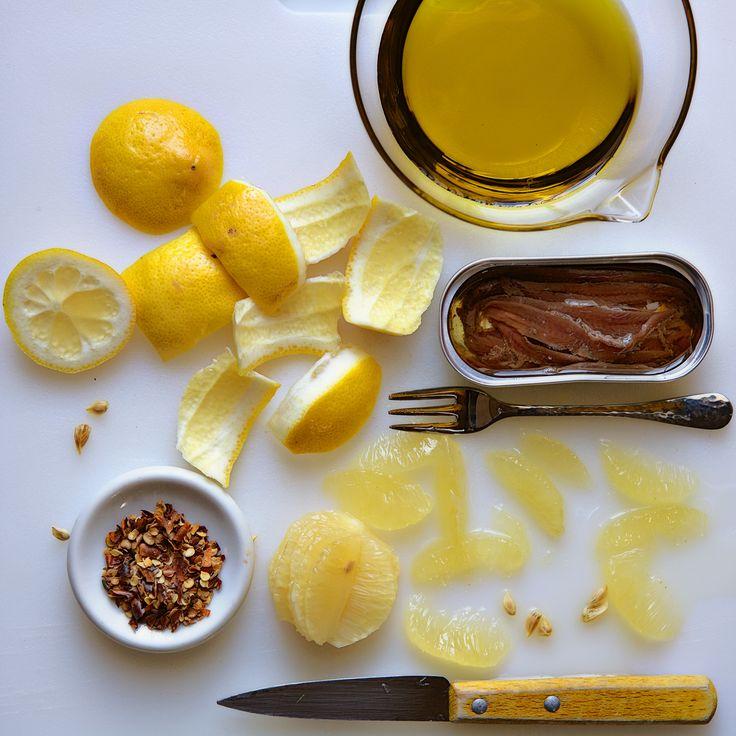 Lemon-Anchovy Vinaigrette A lighter, brighter option for all you Caesar salad lovers. No egg