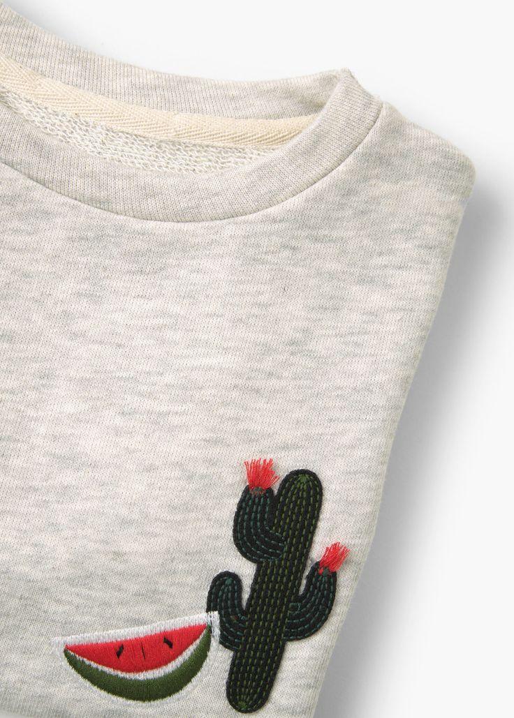 Suéter algodão bordado | MANGO KIDS