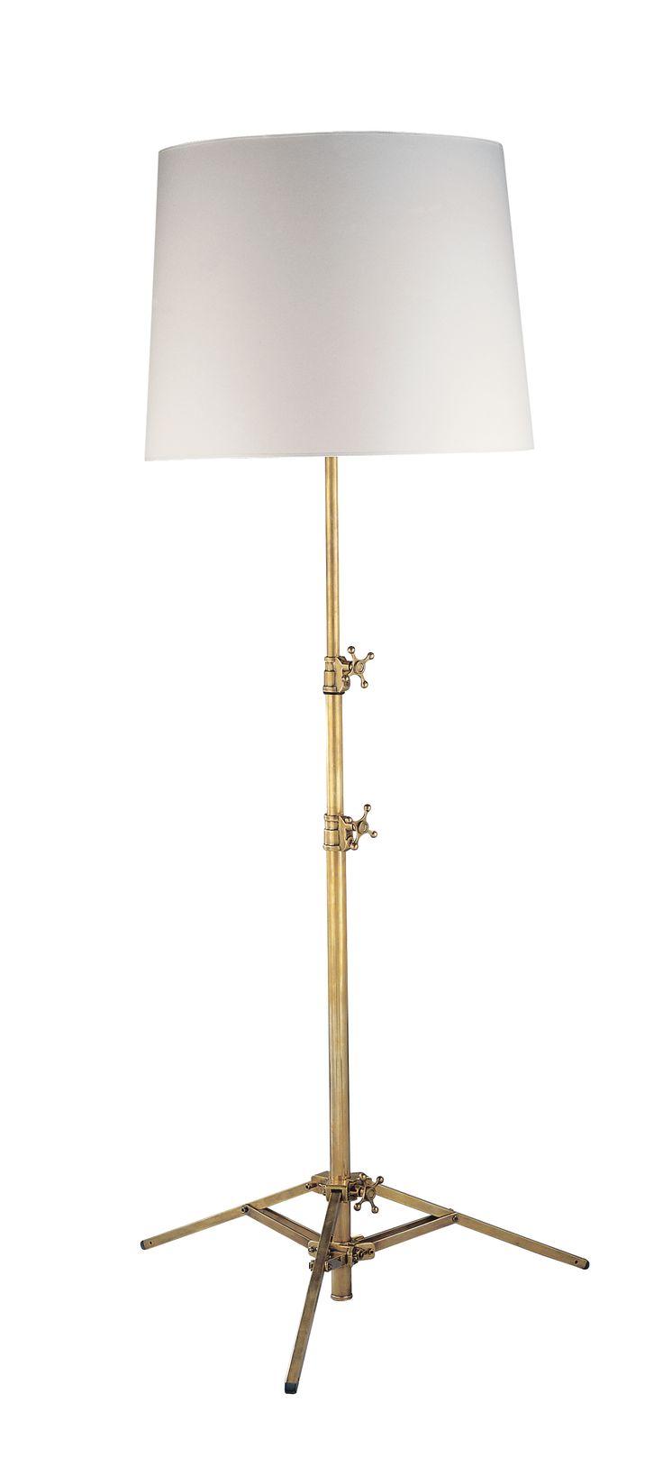 STUDIO ADJUSTABLE FLOOR LAMP WITH LARGE SHADE