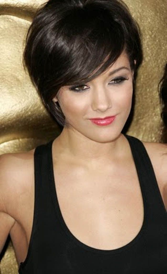 Short blunt bob hairstyle with bangs short hairstyles - Short Dark Hairstyles For Women