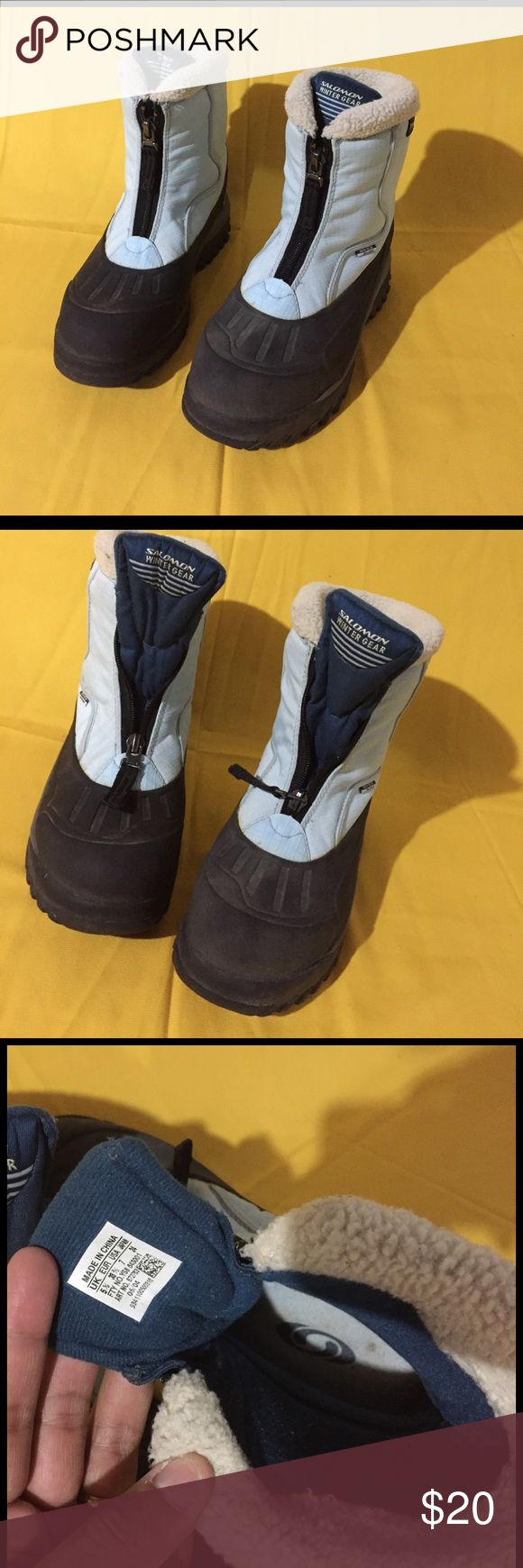 SALOMON WINTER GEAR water resistant Boots Women's size 7 - Boots in great used condition. Lots of grip on them.😊👍🏽 Salomon Shoes Winter & Rain Boots