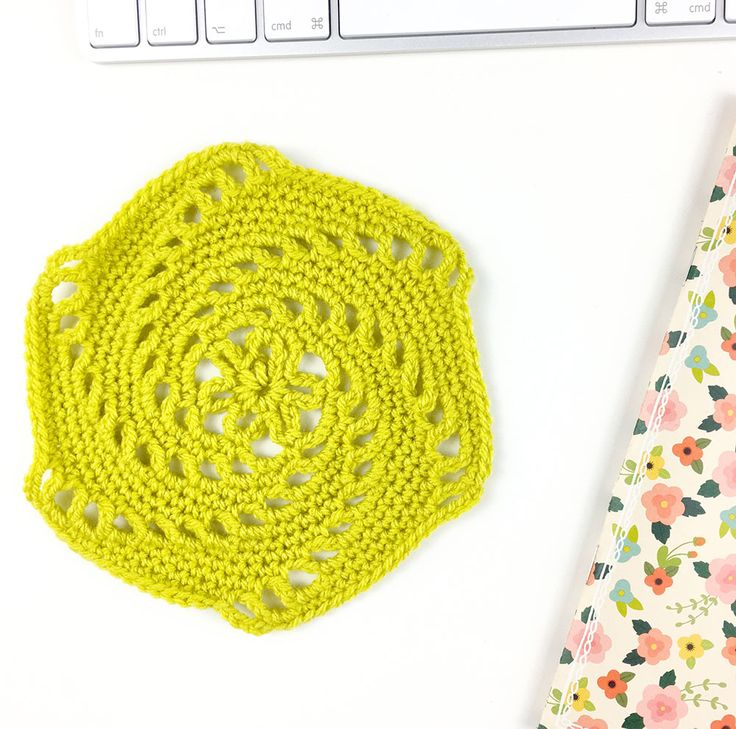 swirly hexagon free crochet pattern