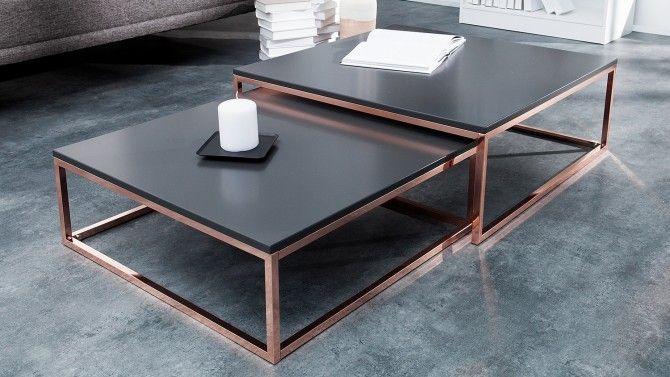 Table Basse Design Gigogne Plateau Mat Cuivre Et Anthracite Wim Gdegdesign En 2020 Table Basse Design Table Basse Table Basse Gigogne