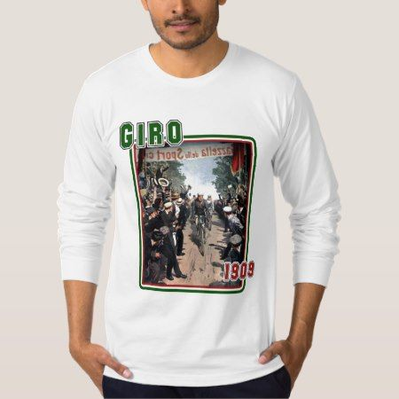 Giro 1909 T-shirt Italy flag colors fitted LS T - click to get yours right now!