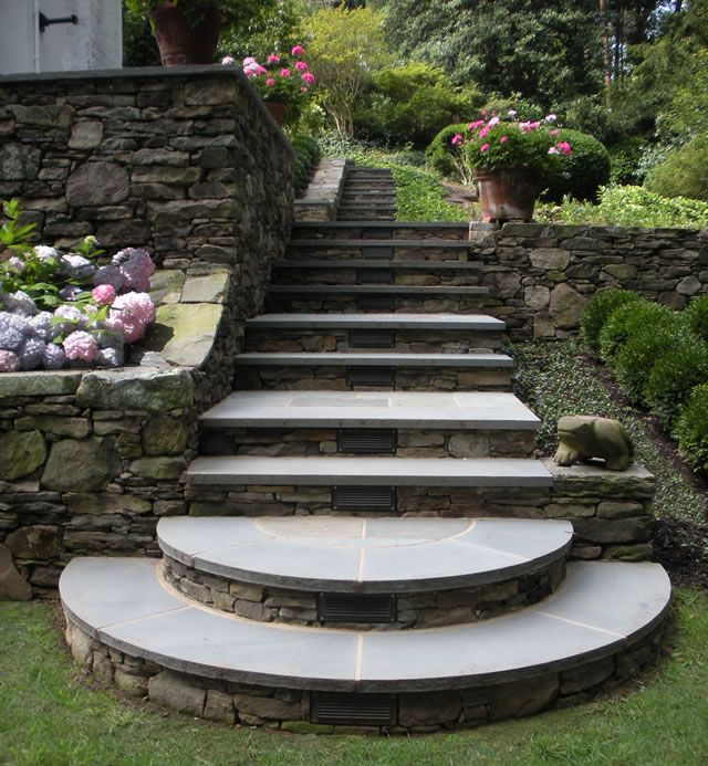 Wonderful Leydon Landscaping Inc. Stone Walls And Bluestone Steps   Green Secrets Good Looking