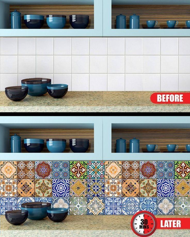 Best 19 tiles images on Pinterest | Tile decals, Vinyl wall stickers ...
