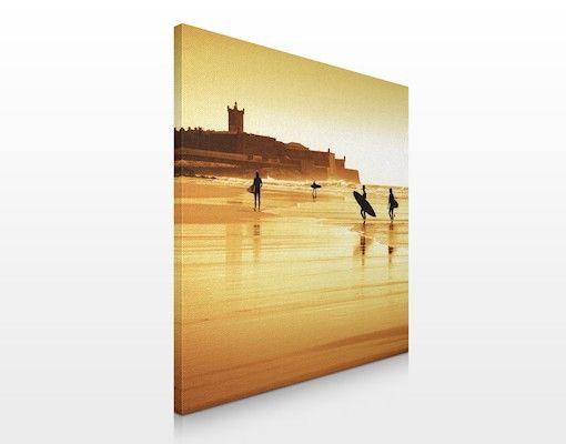 #Leinwandbild No.428 Surfer #Beach 70x70cm #mediterran #warme #Farben #