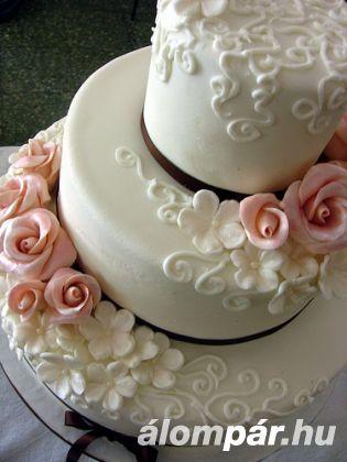 Meseszép esküvői torták 17 - Elegáns esküvői torták -
