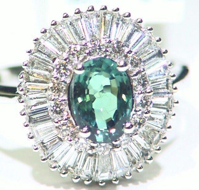 VINTAGE 1.56CT 18K GOLD NATURAL CUT WHITE DIAMOND ALEXANDRITE ENGAGEMENT RING  #saltydogwalter #Cocktail #Birthday