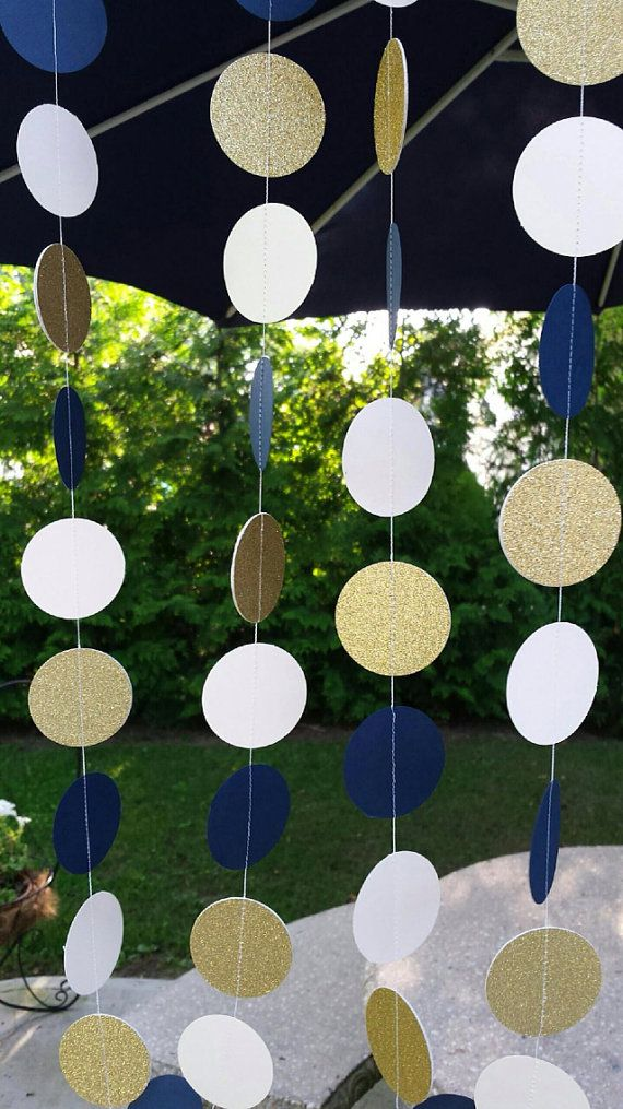 Navy and gold party decorations navy decorations by MagnoliaOlive, $8.00