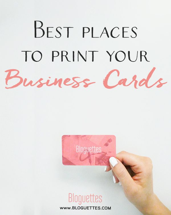Best Places To Print Your Business Cards