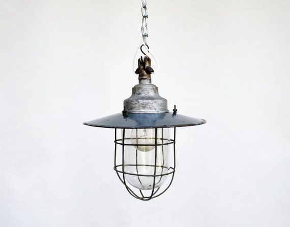 Vintage Industrial Ceiling Lamp / Light by TheCuriousCaseShop, I would love one of these