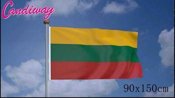 90 x 150cm    Lithuania National Flag  Hanging Flag Polyester Lithuania Flag Outdoor Indoor  Big Flag      NN088  Price: 3.04 USD