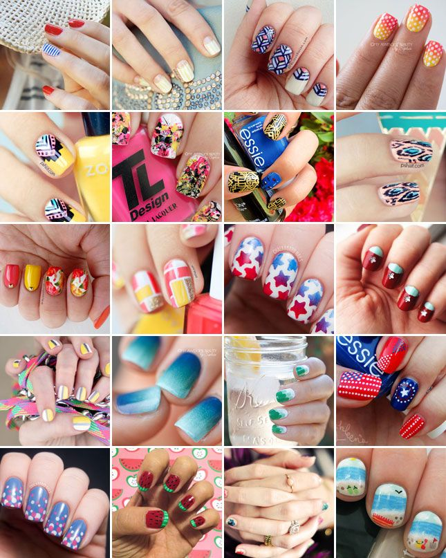 Nails To DIY For: 20 Nail Art Tutorials For Summer - (brit)